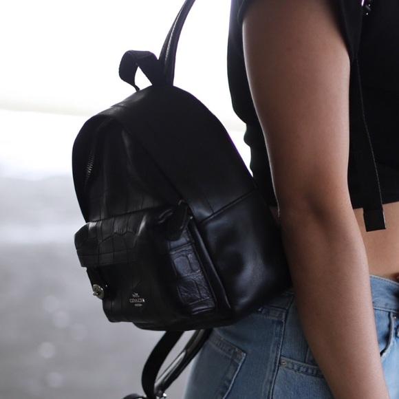 8b117ba00e Coach Handbags - Coach Mini Campus Backpack Croc